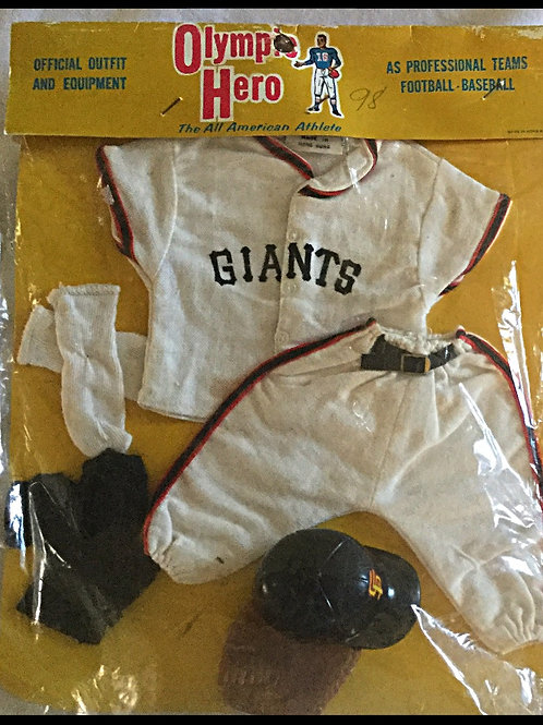 Johnny Hero SF Giants uniform and accesories