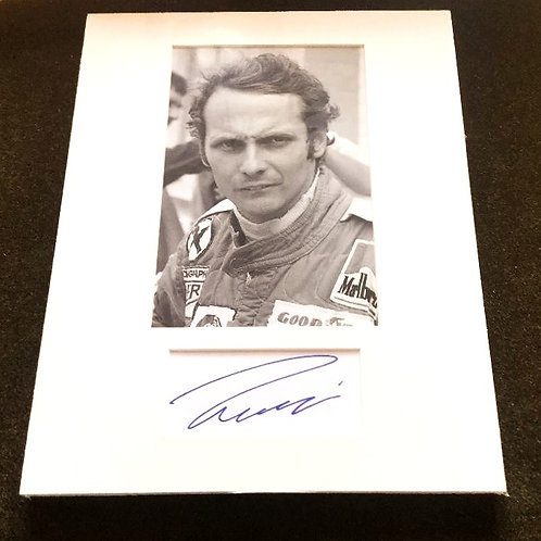 Niki Lauda Photo and Matted Autograph