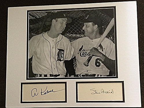 Kaline and Musial signed, matted photo
