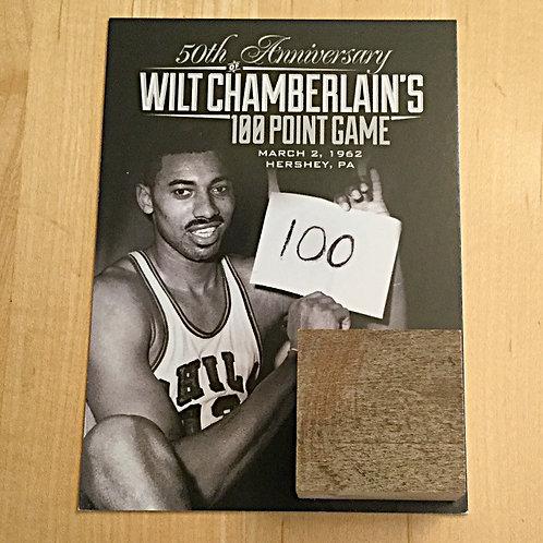 Wilt Chamberlain Game Used Court Piece