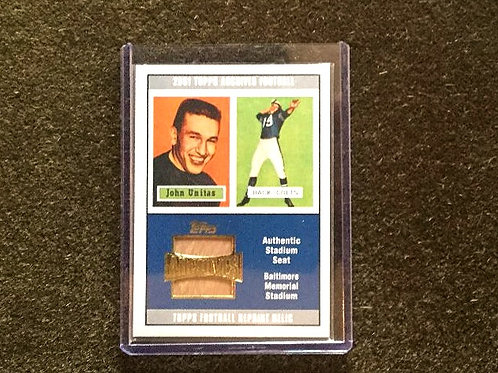Johnny Unitas Stadium Seat from Topps Archives