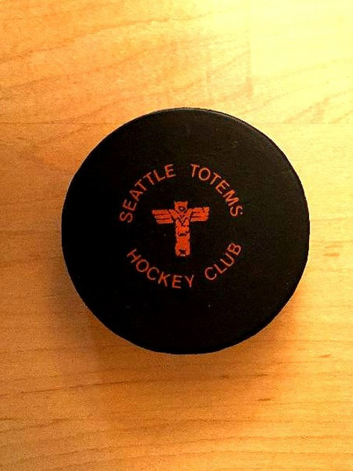 Vintage Seattle Totems Hockey Puck