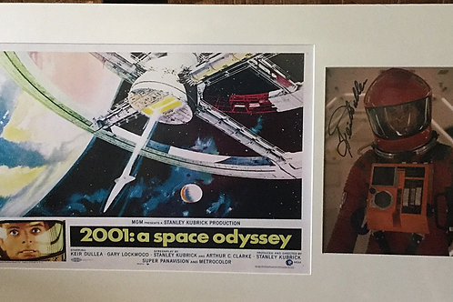 2001 a Space Odyssey movie poster and signed 8x10