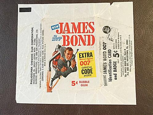 60's James Bond Gum Wrapper