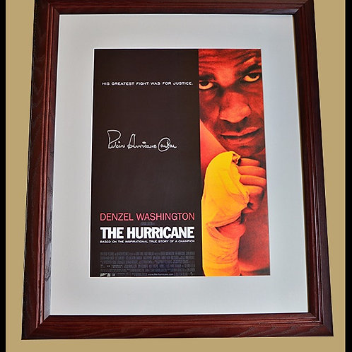The Hurricane signed and framed movie poster