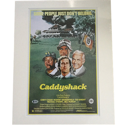 Caddyshack Movie Poster signed by Chevy Chase