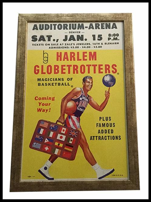 Harlem Globetrotters framed vintage poster