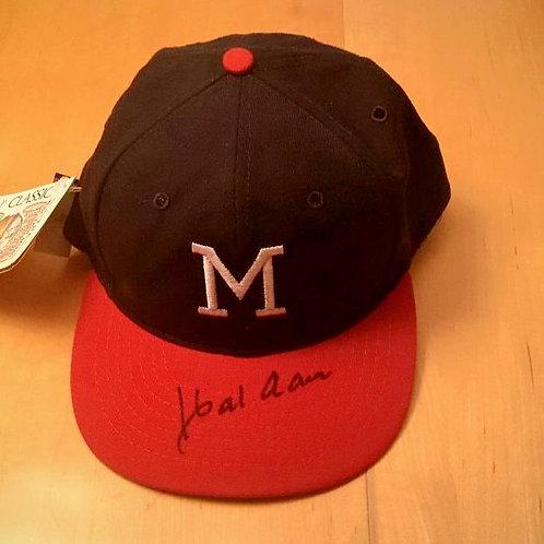 Hank Aaron Autographed Cap