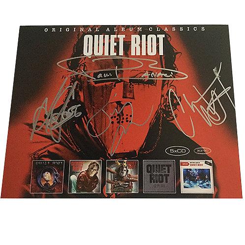 Quiet Riot signed album promo