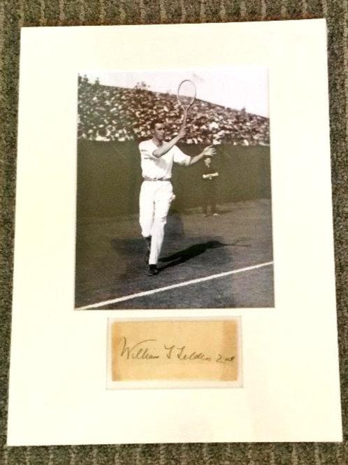 Bill Tilden Photo and Autograph