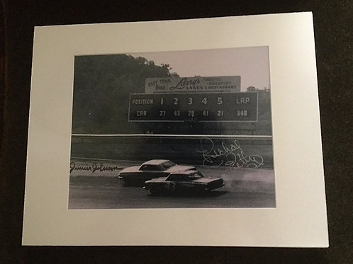 Junior Johnson and Richard Petty signed 8x10