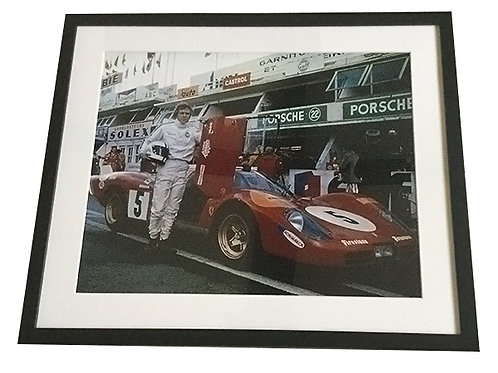 Steve McQueen Le Mans Framed Photo