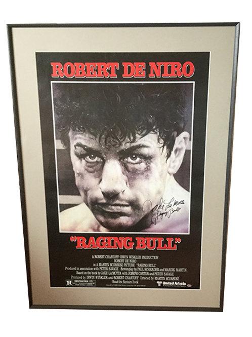 Raging Bull Movie Poster signed by Jake Lamotta