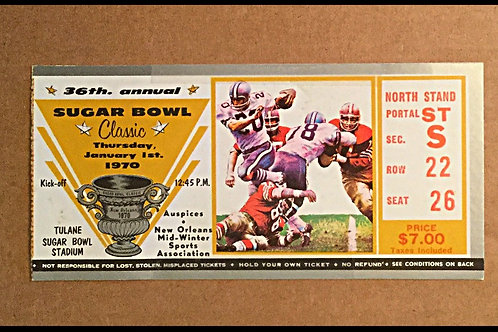 1970 Sugar Bowl Ticket Stub