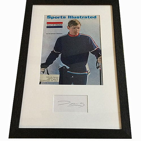 Jean Claude Killy matted autograph with Sports Illustrated