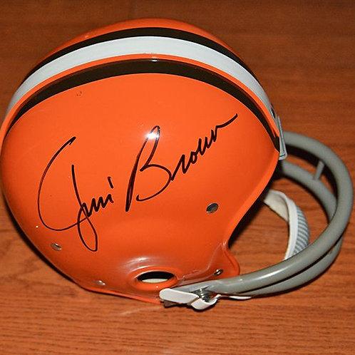 Jim Brown Autographed Riddel Helmet