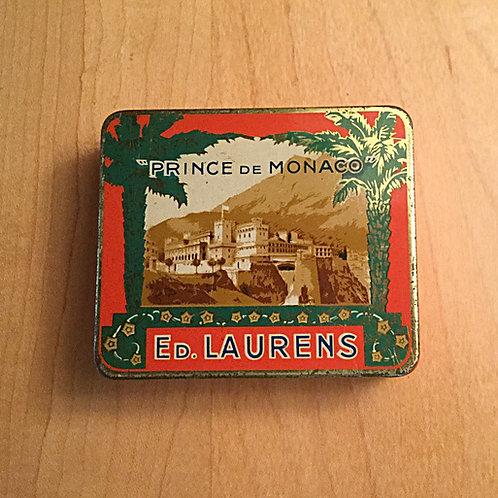 Vintage Ed Laurens cigarette tin