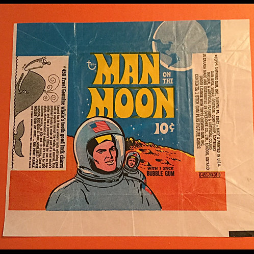 1969 Topps Man On The Moon Wrapper