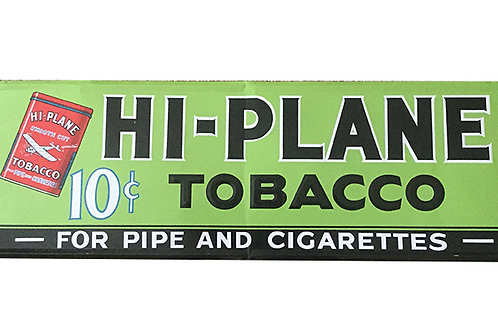 Vintage Hi-Plane Tobacco Metal Sign