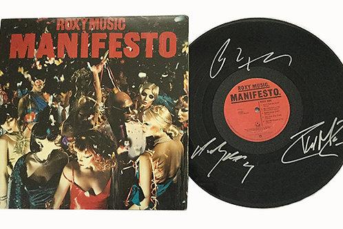 Roxy Music Signed LP