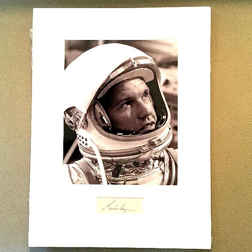 Gordon Cooper Matted Autograph with Photo