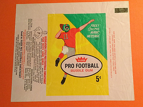 1961 Fleer Football Card Wrapper