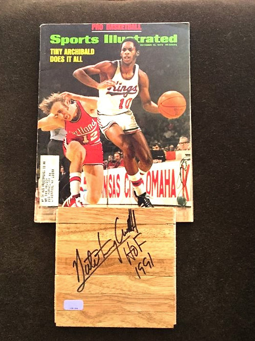 "Nate ""Tiny"" Archibald Signed Floor PIece"