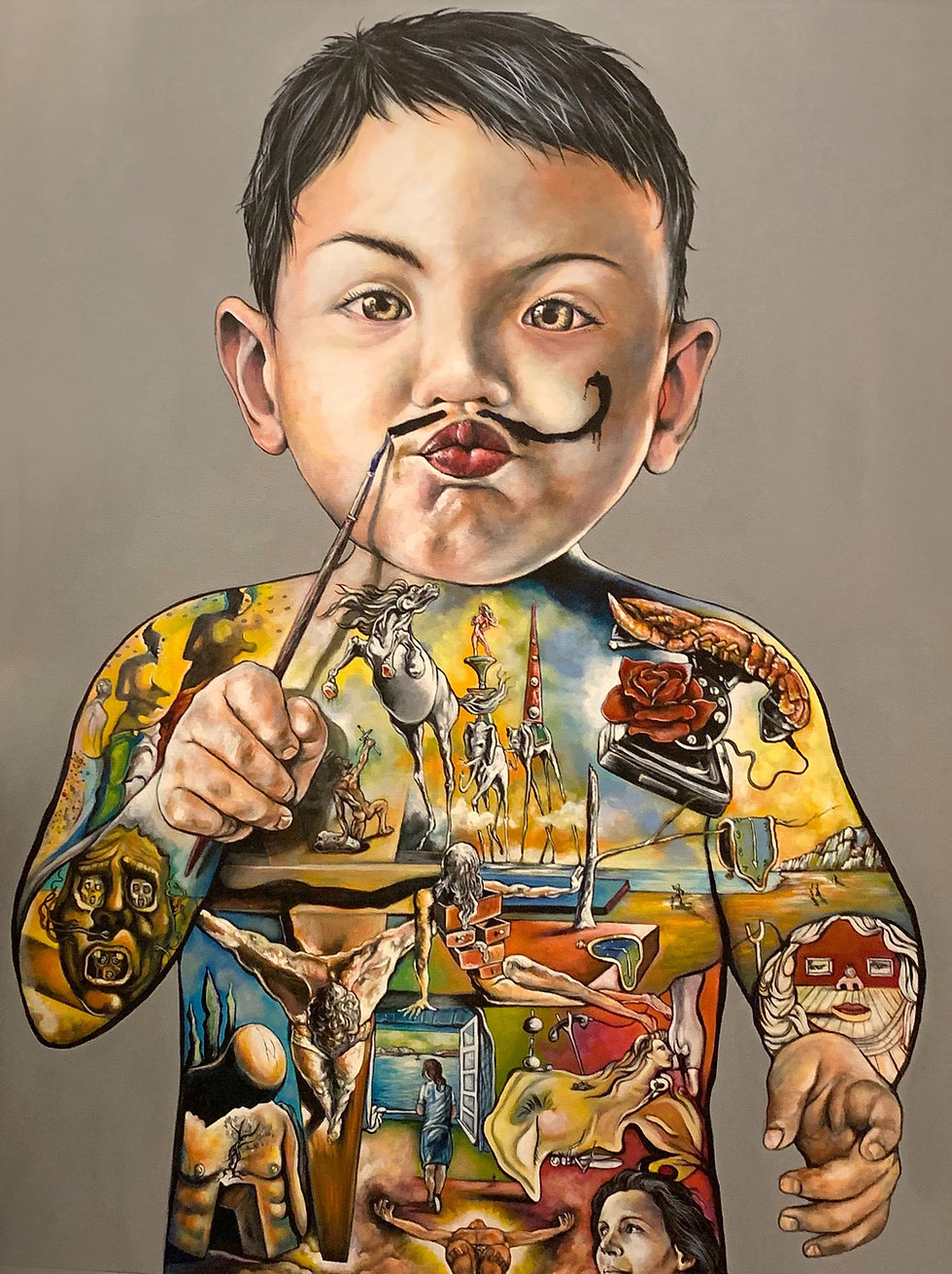 Baby Dali  ''Masterpiece'' 40'' x 60''.jpeg