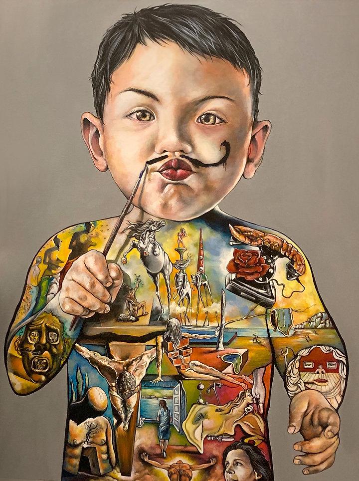 Baby Dali  ''Masterpiece'' 40'' x 60''.j
