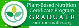 certificado de graduación de programa de nutrición a base de plantas