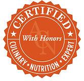 Certificada con honores de experta en nutrición culinaria