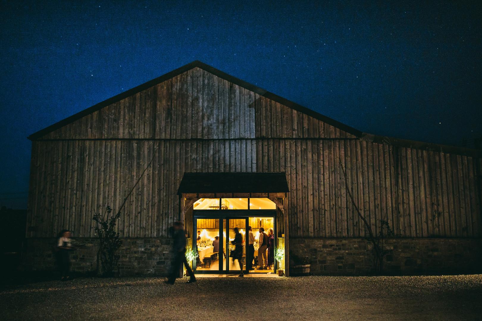 Wedding Barn by night