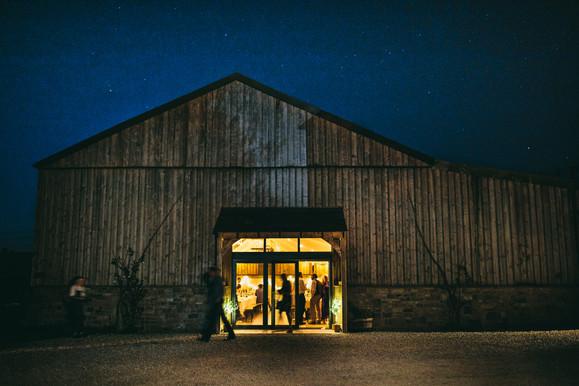 Wedding Barn evening reception