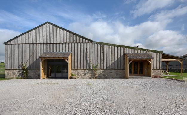 External view, Wedding Barn and Playroom