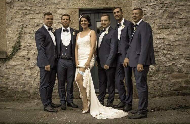 Bride Suzanne and boys