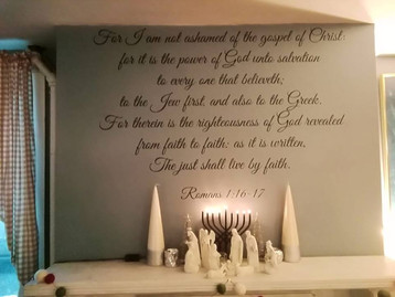 Chag - Sameach, have a blessed  Hanukkah, Festivals  of Lights in Jesus the Messiah, the Light of th