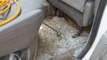 Bullets shot through the Toyota Hilux  yet,God protected His servants.!!