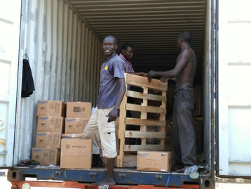 The 40 ft. container full of rice meal sent from the USA to help the people of South Sudan has safel