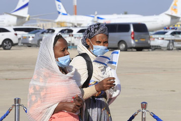 Ethiopian Jews arrived Israel. Prophetic fulfillment of Biblical proportion. Zeph.3