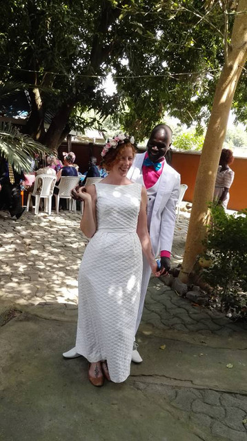 It is Done. Amen!!  Katherine  Saunders and Isaac Tombe  tied the knot.