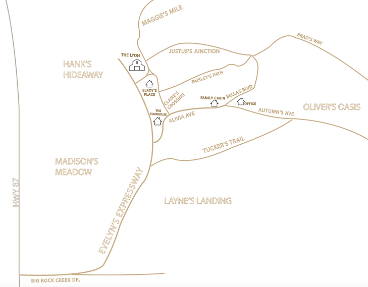 Big Rock Creek Property Map