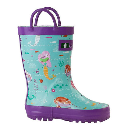 OAKI Mermaid Loop Handle Rubber Rain Boot