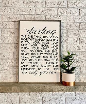 Darling - Framed Nursery Art