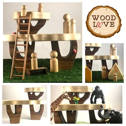 Wood Tree House set