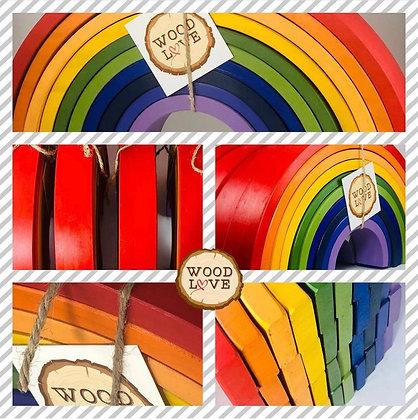 "Large Wooden Rainbow 10"""