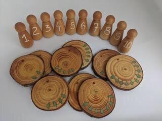 Wooden number set