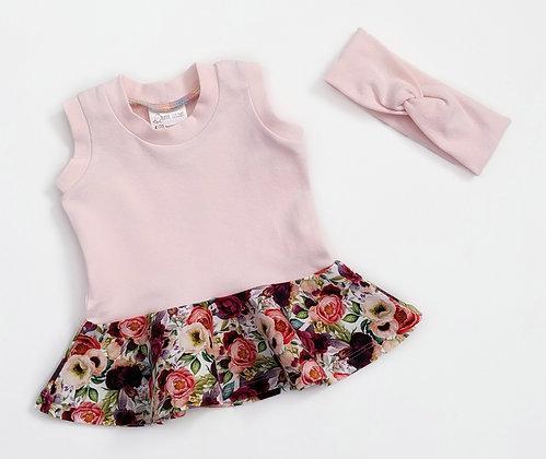Pink/Floral Peplum Set
