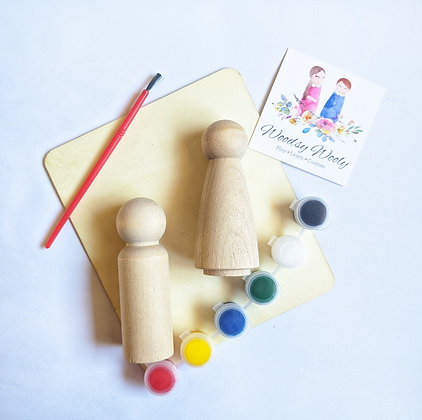 Paint your own peg doll kit