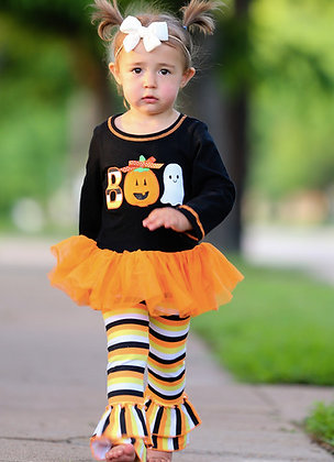 Boo Tutu Halloween Two Piece/Romper