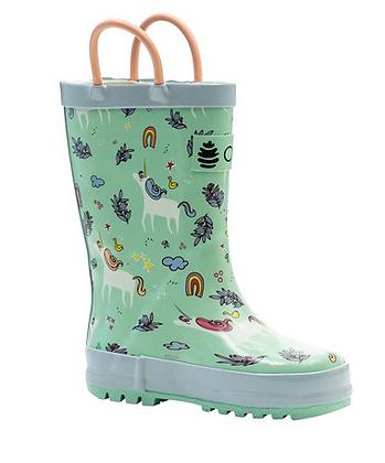 OAKI Unicorn Loop Handle Rubber Rainboot